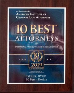Derek Byrd Awards Accolades